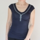 Zipper T-shirt Dark Blue