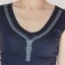 Zipper T-shirt Dark Blue