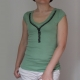 Zipper T-shirt Green